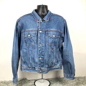 Vintage 90's Tommy Hilfiger Blue Denim Jean Jacket